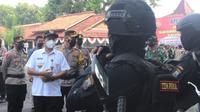 730 personil Polri, TNI dan Instansi terkait dikerahkan dalam pelaksanaan Operasi Ketupat Candi tahun 2021 di wilayah Kabupaten Pemalang. (Foto: Liputan6.com/Humas Polres Pemalang)
