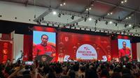 Jokowi menghadiri perayaan Imlek Nasional 2020 di ICE BSD Tangerang Selatan, Kamis (30/1/2020). (Liputan6.com/Lizsa Egeham)
