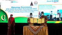 BTN menggandeng Pondok Pesantren Tebuireng di Jombang, Jawa Timur menggelar Pelatihan BTN Santri Developer Kebangsaan 2021 (dok: BTN)