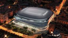 Visualisasi Stadion Santiago Bernabeu setelah direnovasi terlihat dalam gambar selebaran yang dirilis pada Selasa (2/4). Real Madrid siap merenovasi Santiago Bernabeu. (Real Madrid/Handout via REUTERS)