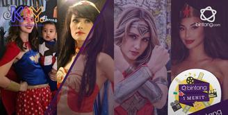 Pesona Cinta Laura dan 3 seleb pakai kostum wonder woman