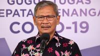 Juru Bicara Pemerintah untuk Penanganan COVID-19 Achmad Yurianto saat konferensi pers Corona di Graha BNPB, Jakarta, Minggu (5/7/2020). (Dok Badan Nasional Penanggulangan Bencana/BNPB)