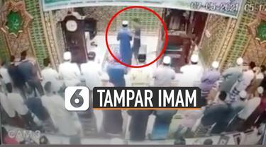 Penganiayaan terhadap imam masjid terjadi di Pekanbaru, Riau (7/5/2021) subuh.