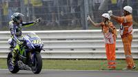 Banyak momen menarik yang tersaji di balapan MotoGP San Marino di Sirkuit Misano.