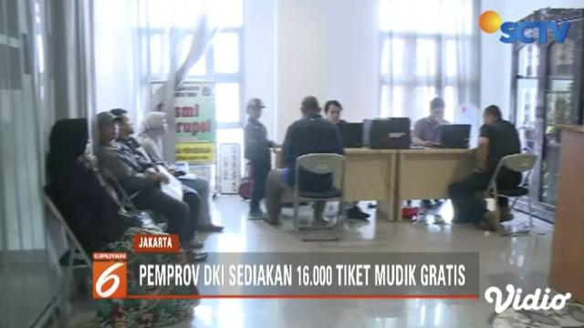 Dishub Pemprov DKI Jakarta sediakan 16 ribu tiket bus untuk program Mudik Gratis 2019.