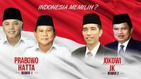 Prabowo-Hatta dan Jokowi-JK (Liputan6.com/Andri Wiranuari)