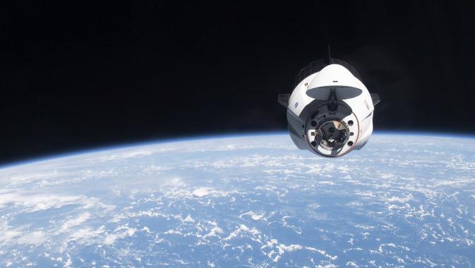 Sampah antariksa. (Photo by Handout / NASA / AFP)