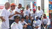 Sosialisasi Hari Disabilitas International, Minggu (1/12/2019), Gate 7 GBK, Senayan, Jakarta. (Foto: Liputan6.com/Dyah Puspita W)