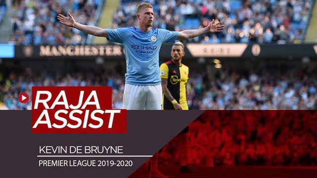 Berita video catatan mengesankan pemain Manchester City, Kevin De Bruyne, sebagai raja assist Premier League 2019-2020.