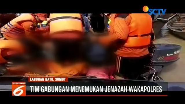 Tim gabungan TNI, Polri, dan BPBD Labuanbatu temukan Wakapolres Labuhanbatu, Kompol Andi Chandra dalam keadaan tewas.