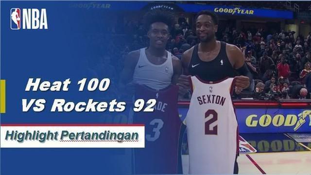 Justise Winslow mencetak 27 poin untuk memimpin Heat melewati Cavaliers, 100-94.