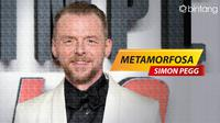 Metamorfosa Simon Pegg (Foto: AFP, Digital Imaging: M. Iqbal Nurfajri/Bintang.com)