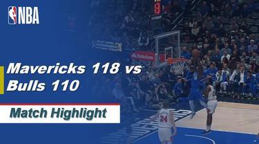 Berita Video Highlights NBA 2019-2020, Dallas Mavericks Vs Chicago Bulls 118-110