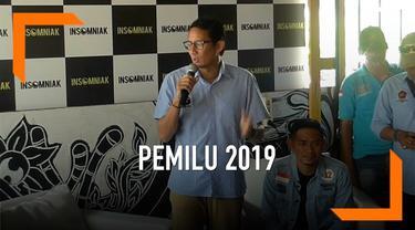 Cawapres nomor urut 02 Sandiaga Uno mengusulkan pembentukan Tim Pencari Fakta Indpenden untuk pemilu 2019. Hal itu dikatakannya saat mengunjungi relawan pendukung Prabowo-Sandi di Ciputat.