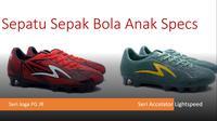 Pilihan sepatu sepak bola anak merek Specs, modelnya tidak kalah dari brand impor. (Istimewa)