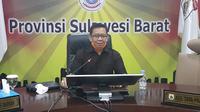 Juru Bicara Gugus Tugas Penanganan Covid-19 Sulawesi Barat Safaruddin Sanusi (Liputan6.com/Abdul Rajab Umar)