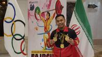 Eko Yuli Irawan merebut tiga emas dari Fajr Cup. (KBRI Tehran)