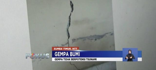 Sumba Timur, Nusa Tenggara Timur (NTT) diguncang gempa 6,3 SR pada Selasa (2/10) siang. Namun tidak ada potensi tsunami.