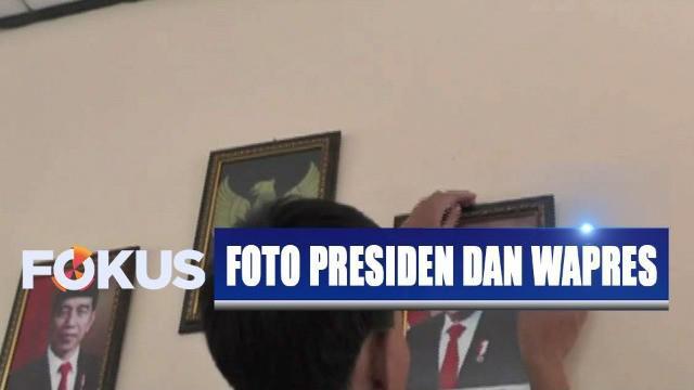 Tak hanya di ruang kelas, ada sekitar 50 ruang di sekolah ini yang akan terpasang foto presiden dan wakil presiden terbaru.