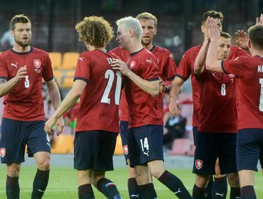 Foto Piala Eropa: Menang besar atas Albania, Republik Ceska Kirim Ancaman untuk Lawan di Euro 2020