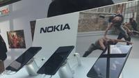 Deretan smartphone terbaru Nokia, yakni Nokia 3, 5, dan 6. (Liputan6.com/Jeko Iqbal Reza)