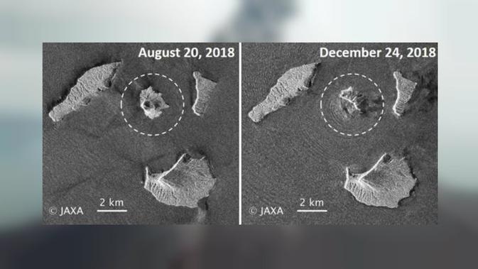 Satelit radar Alos-2 milik Jepang pantau aktivitas Gunung Anak Krakatau (JAXA)