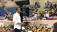 Jokowi menepis isu-isu miring yang menyerangnya jelang Pilpres 2019 (Liputan6.com / Nefri Inge)