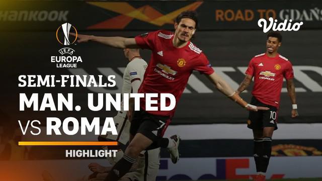 Berita video highlights leg I semifinal Liga Europa 2020/2021 antara Manchester United melawan AS Roma yang berakhir dengan skor 6-2, Jumat (30/4/2021) dinihari WIB.