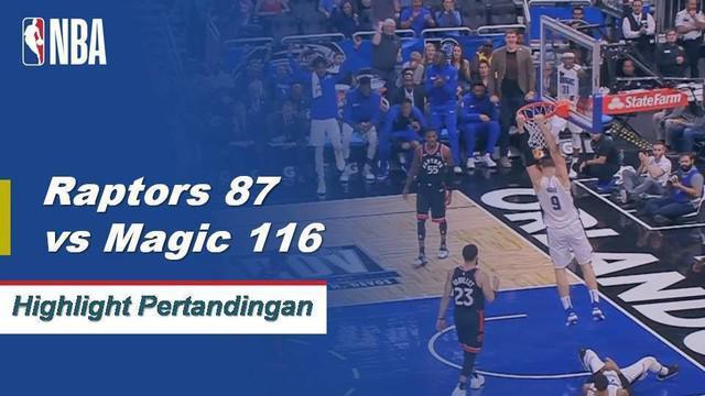 Nikola Vucevic mencetak 30 poin dan 20 rebound saat Orlando mengalahkan Toronto.