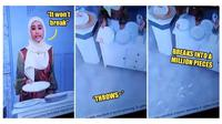Aksi kocak pembawa acara yang pecahkan piring (Sumber: World of Buzz)
