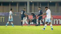 Arema FC menang 3-0 atas Persela Lamongan pada laga pekan keenam BRI Liga 1 di Stadion Madya, Senayan, Jakarta, Minggu (3/10/2021) malam WIB. (Bola.com/