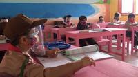 Berhasil masuk zona hijau Covid-19, sekolah dasar (SD) di Kabupaten Boalemo kembali dibuka (Liputan6.com/Gorontalo)