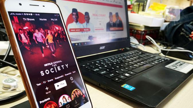 Pengguna bisa share tayangan Netflix ke IG Stories. (Liputan6.com/ Yuslianson)