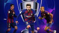 Barcelona - Thierry Henry, Gerard Pique, Pedro (Bola.com/Adreanus Titus)