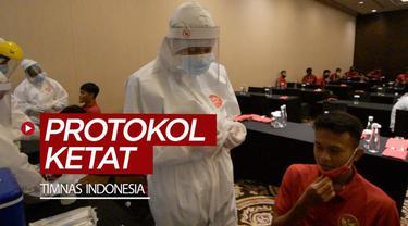 Berita video penjelasan soal protokol kesehatan yang ketat untuk Timnas Indonesia senior dan U-19 saat pemusatan latihan.