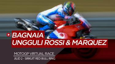 Berita Video Kalahkan Valentino Rossi dan Marc Marquez, Bagnaia Menangi MotoGP Virtual Race