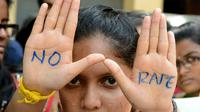 Ilustrasi tolak perkosaan terhadap anak (AFP Photo)
