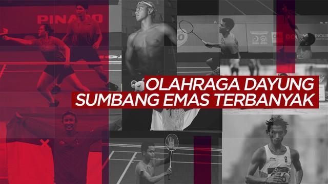 Berita video statistik yang memperlihatkan olahraga dayung menjadi cabang yang paling banyak menyumbangkan medali emas untuk Indonesia pada SEA Games 2019.