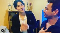 Raffi Ahmad menyambut kehadiran Siwon Choi di kediamannya dengan menggelar karpet merah (Dok.Instagram/@raffinagita1717/https://www.instagram.com/p/B9kmLFoBIcO/Komarudin)
