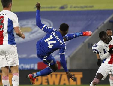 FOTO: Leicester Comeback, Pukul Crystal Palace 2-1 dan Amankan Posisi 3 Besar - Kelechi Iheanacho