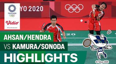 Berita video aksi-aksi Mohammad Ahsan / Hendra Setiawan saat menghadapi ganda putra Jepang di cabang olahraga bulutangkis Olimpiade Tokyo 2020, Kamis (29/7/2021) pagi hari WIB.