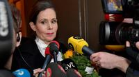 Kepala (Permanent Secretary) Swedish Academy, Sara Danius (Jonas Ekstromer/TT News Agency via AFP PHOTO)