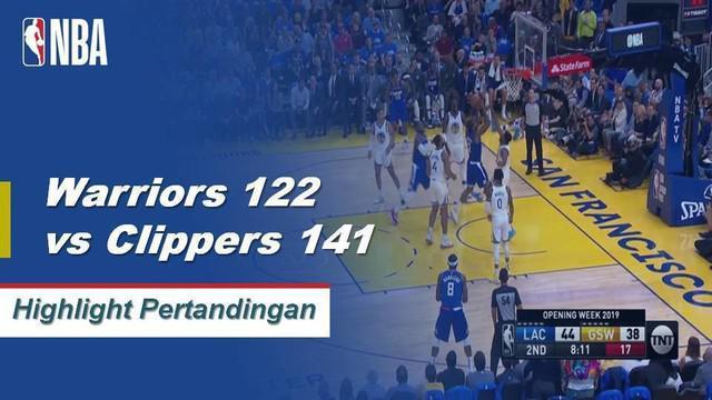 Berita video highlights NBA 2019-2020 antara Golden State Warriors melawan LA Clippers yang berakhir dengan 122-141, Kamis (24/10/2019).