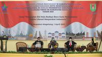 Diskusi peningkatan Indeks Literasi Kabupaten Magelang, Kamis (1/4/2021) (Liputan6.com/ Istimewa)