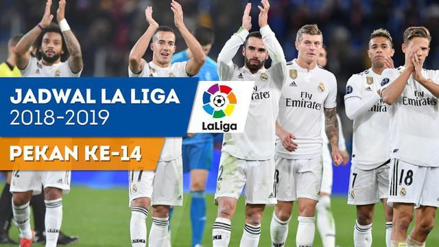Berita video jadwal La Liga 2018-2019 pekan ke-14. Real Madrid hadapi Valencia Minggu (2/12/2018) di Santiago Bernabeu, Madrid.