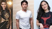 Luna Maya, Ariel NOAH dan Pevita Pearce
