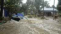 Banjir banda melanda kawasan wisata di negara bagan Kerala, di selatan India, pada paruh minggu kedua Agustus 2018. (AP Photo)