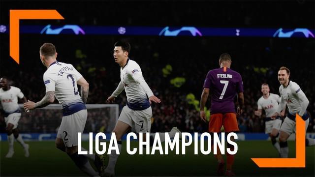 Manchester City dipaksa menyerah 0-1 kepada Tottenham Hotspur dalam leg pertama perempat final liga champions.