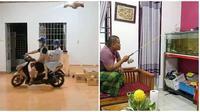 Deretan aksi kocak orang saat bosan di rumah ini bikin tepuk jidat. (Sumber: Instagram/@wkwkland_real)