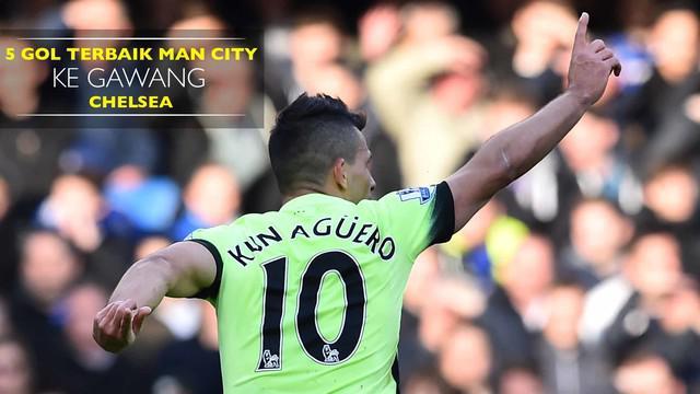 Video kompilasi 5 gol terbaik Manchester City ke gawang Chelsea di Stamford Bridge.